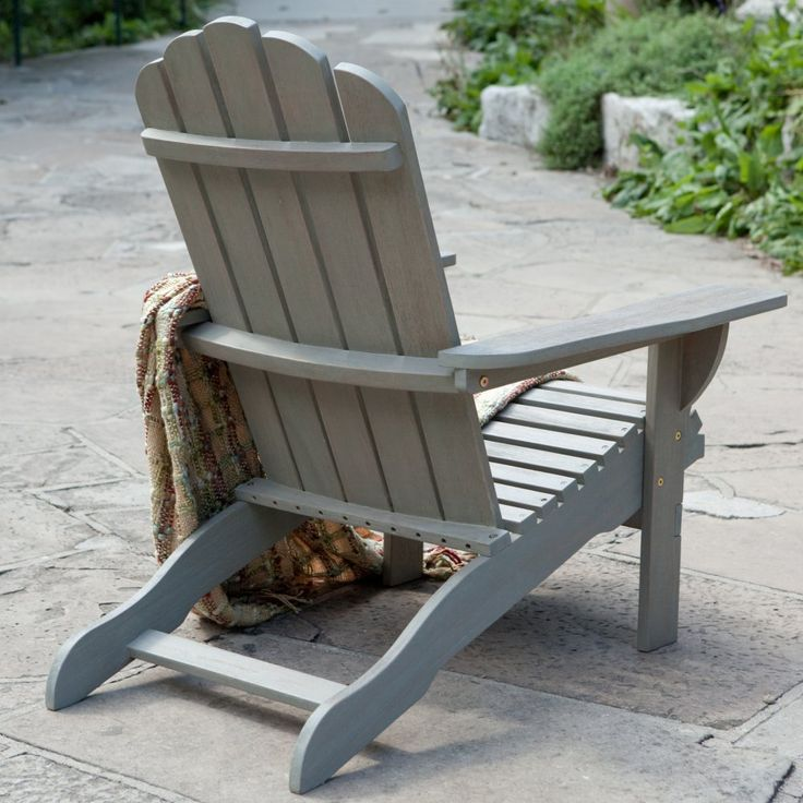 Belham Living Shoreline Wooden Adirondack Chair - Driftwood - Adirondack Chairs at Hayneedle