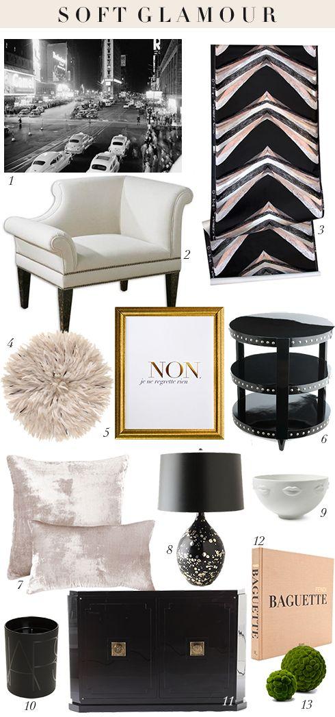 Soft Glamour Room Design Via MadeByGirl