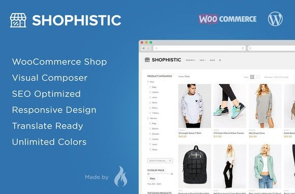 Shophistic - WooCommerce Theme. WordPress eCommerce Themes. $59.00