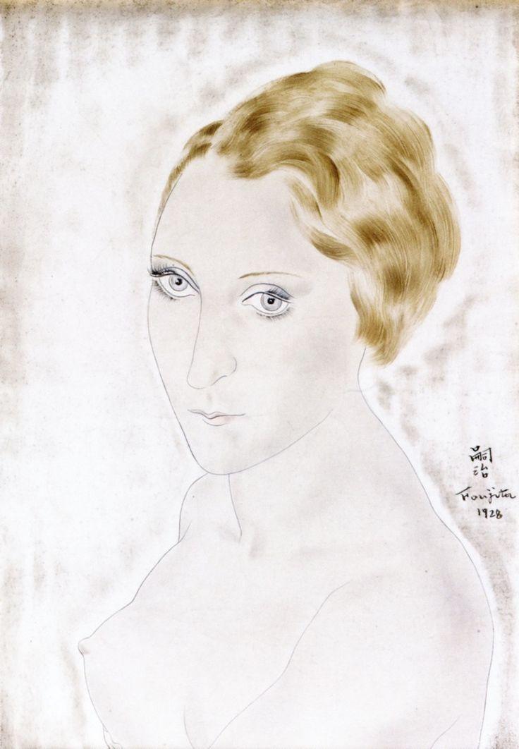 The Athenaeum - Portrait of Youki (Tsuguharu Foujita - No dates listed)
