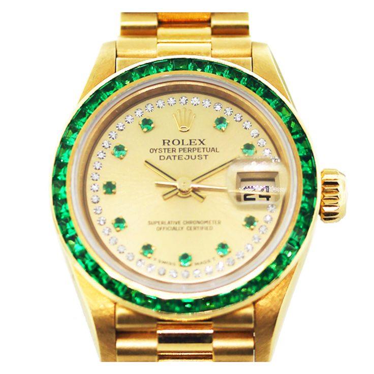 ROLEX Datejust Ref. 69108 Gold Diamond Emerald Watch #OMBAS @Raymond Lee Jewelers (Not a Presidential....but I love this one!!)