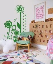 Medidor infantil flores: Vinilos infantiles, decoración de paredes, decoración de habitaciones, decoración de habitaciones infantiles. Trabajo de decoraconimaginacion.com