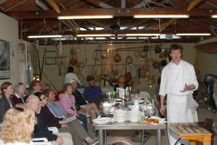 Tom Kime's cooking class in the boatshed   Lord Howe Island