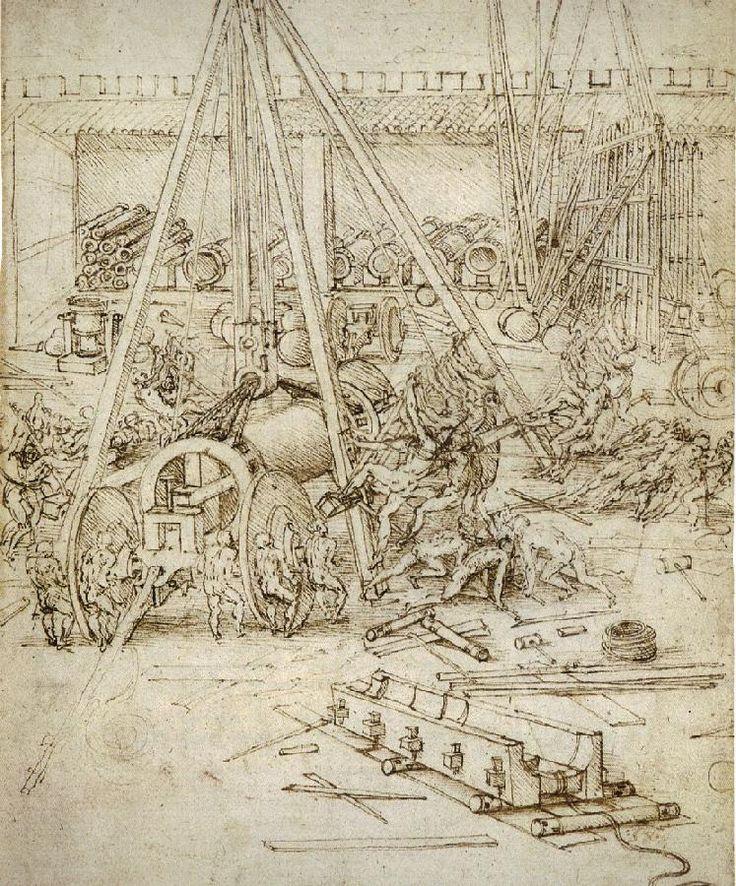 Dessin leonard de vinci artillery 03 56 dessins de leonard de vinci l onard de vinci - Photo leonard de vinci ...