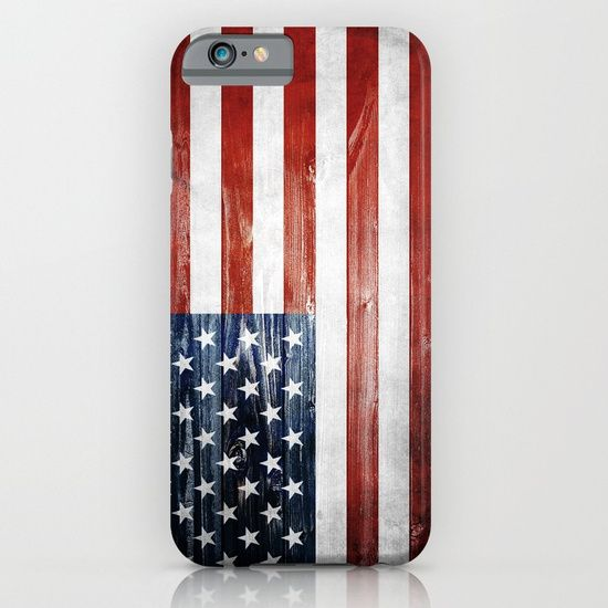 Protect your iPhone with a one-piece, impact resistant, flexible plastic hard case featuring an extremely slim profile. Simply snap the case onto your iPhone for solid protection and direct access to all device features.  #usa #america #american #flag #wooden #wood #4th #4thofjuly #independenceday #patriot #iphone #case #smartphone #samsung