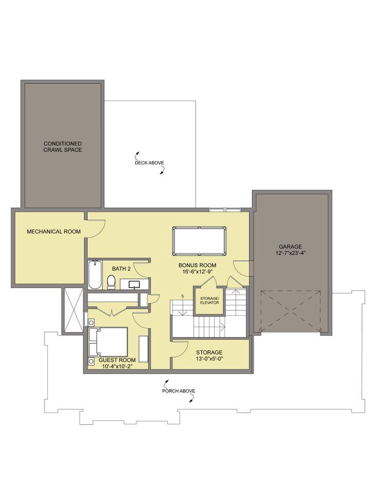 The Siskiyou | Mechanical room, House plans, Floor plans