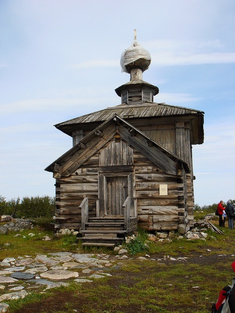 Rustic church in Karelia, Finland