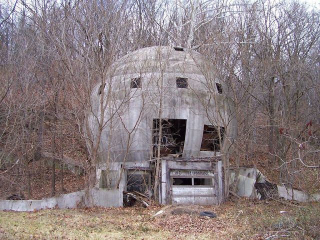 The abandoned concrete round house, Logan, Ohio, USA
