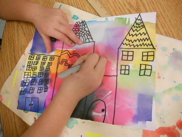 Panthers Palette: 2nd Grade: Paul Klee Buildings