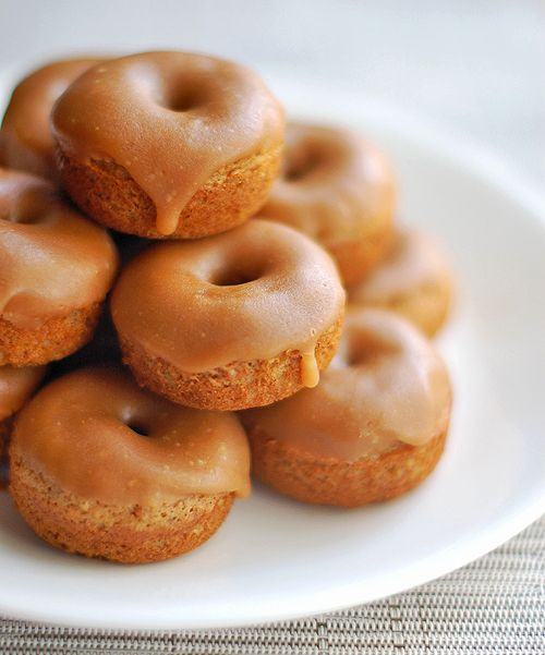 Baked Gingerbread Mini Donuts.