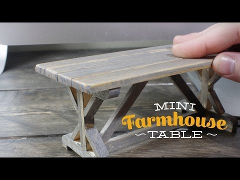 tutorial: miniature farmhouse table