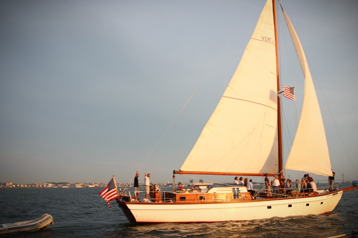 Sailing into the sunset in NYC via Hither & Thither