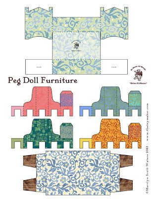 Peg Doll Furniture Printable The Toymaker's Journal