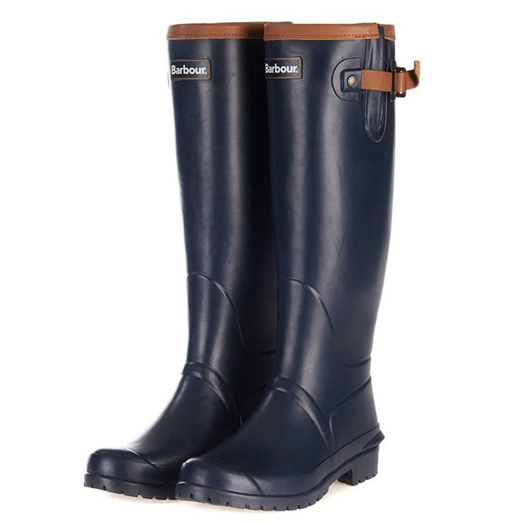 Barbour Ladies Blyth Leather Detail Wellies - Millbry Hill