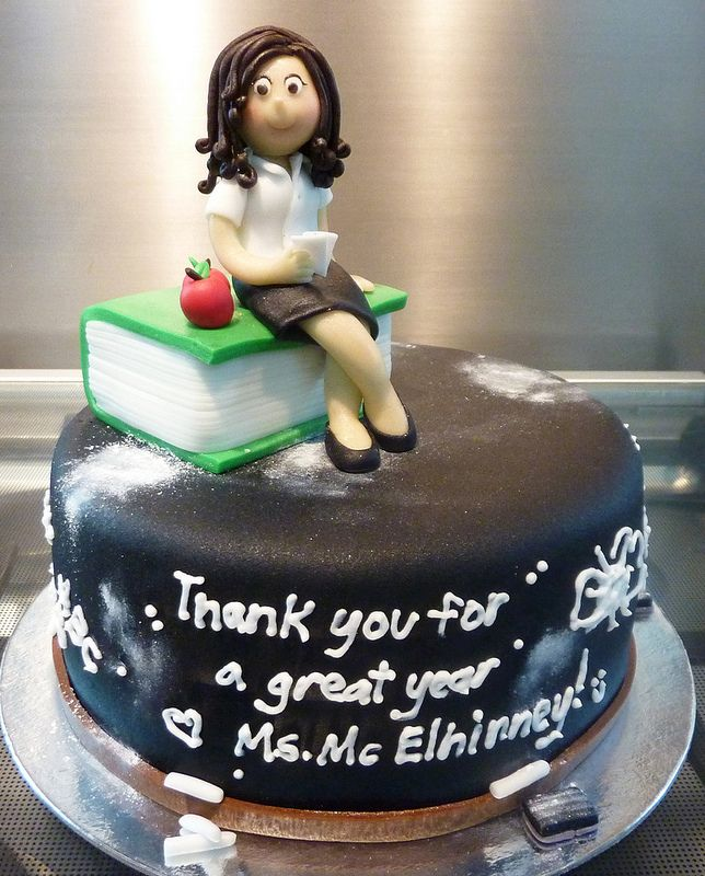 thank you teacher cake