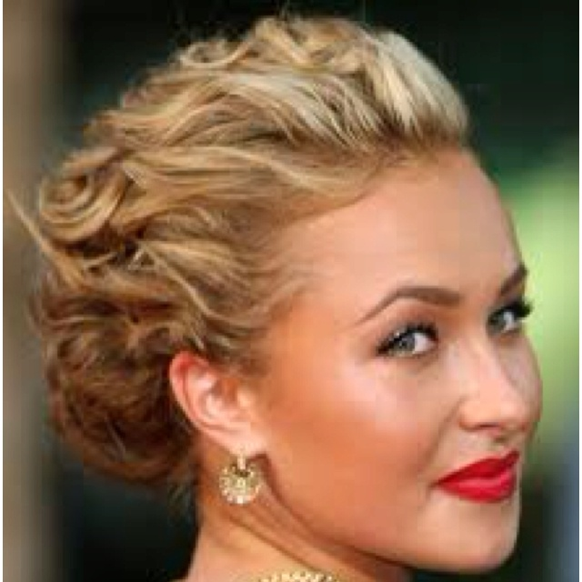 Hayden Panettiere Up Do Beautiful For Very Short Hair
