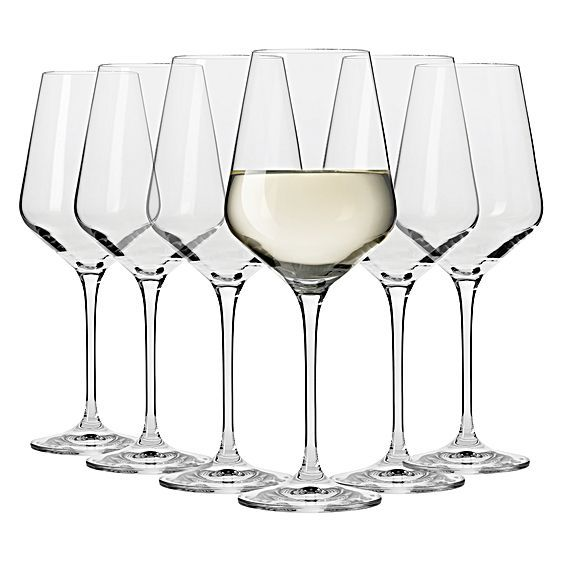 Flair Riesling Wine Glass, 390ml (Set of 6) by Krosno