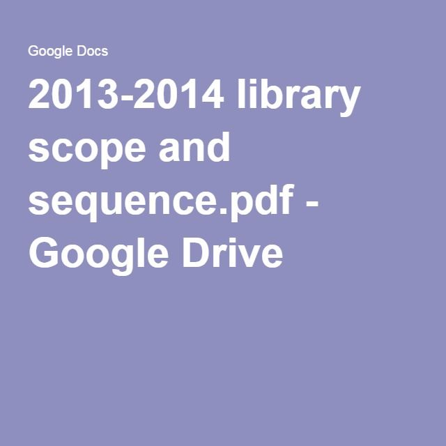 92 best planning for library professional development images on 2013 2014 library scope and sequencepdf google drive fandeluxe Choice Image