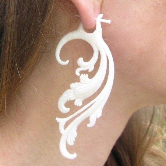 I love Sanfranblissco's jewellery on Etsy ... Breathless Earrings  Bone by sanfranblissco on Etsy, $28.00