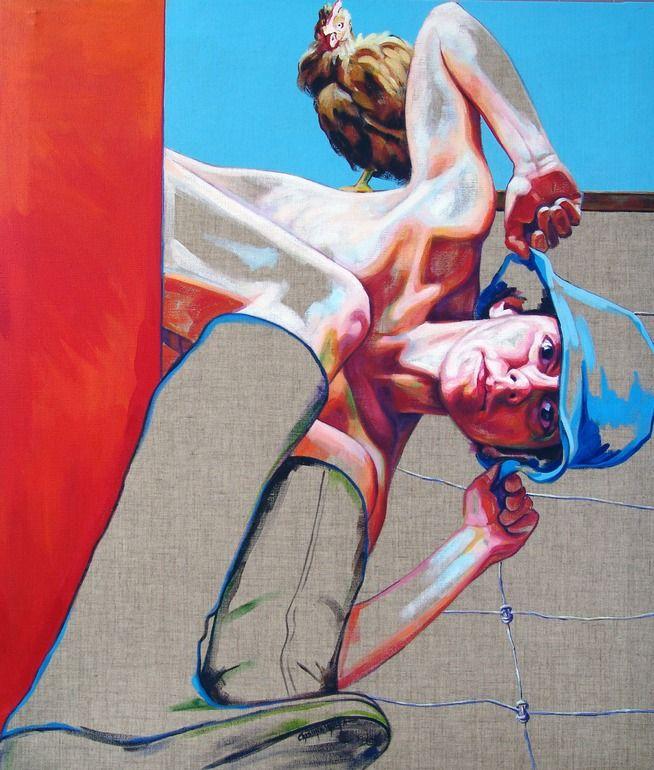 "Saatchi Online Artist: Cristina Troufa; ""Galinheiro 2"""