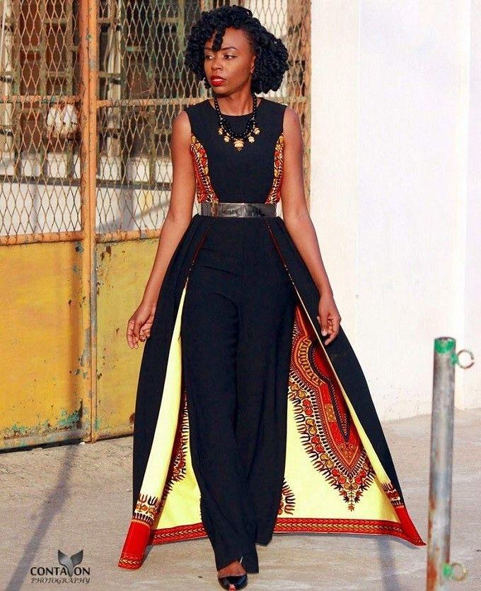 jumpsuit-combinaison-wax- ~DKK ~African fashion, Ankara, kitenge, African women dresses, African prints, African mens fashion, Nigerian style, Ghanaian fashion