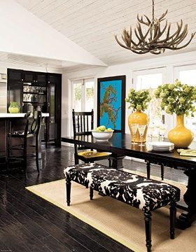 love benches at dining room tables