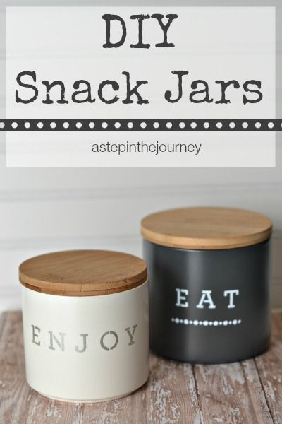 DIY and dress up your kitchen with these awesome canisters!