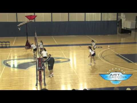 Middle Hitter Volleyball Drill - YouTube