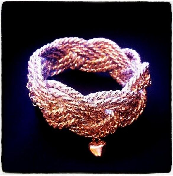 Numi Silver Bracelet Rope Handmade with heart ❤️