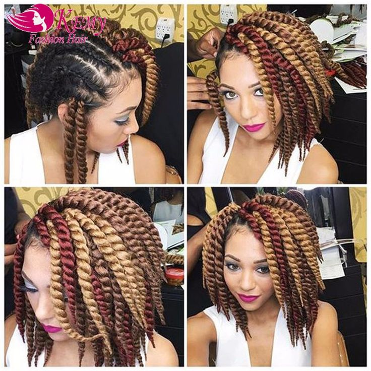 Wholesale Havana Mambo Twist Crochet Hair Extensions Braiding Hair 14inches Crochet Braids Senegalese Twist Hairpieces For Women