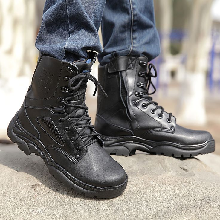 2017 Fashion Military Combat Boots Men Outdoor Tactical Botas Shoes Militares Homre Coturnos masculino Militar Winter Shoes Men