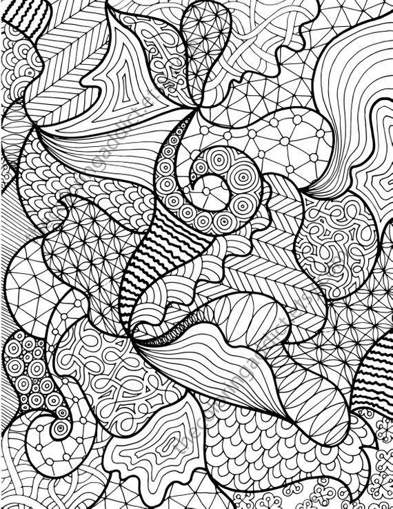 Zentangle Pattern Coloring Sheet Instant Coloring Zentangle Etsy Zentangle Drawings Zentangle Patterns Zentangle Art