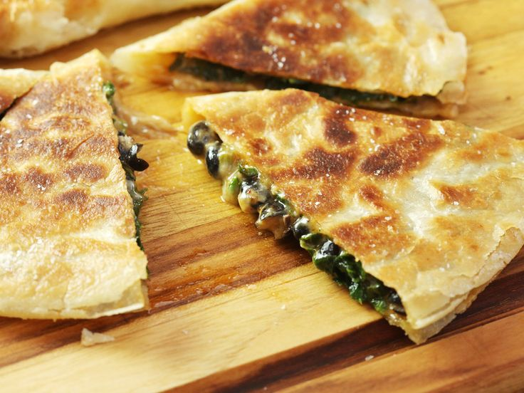 Spinach, Black Bean, and Chipotle Quesadillas