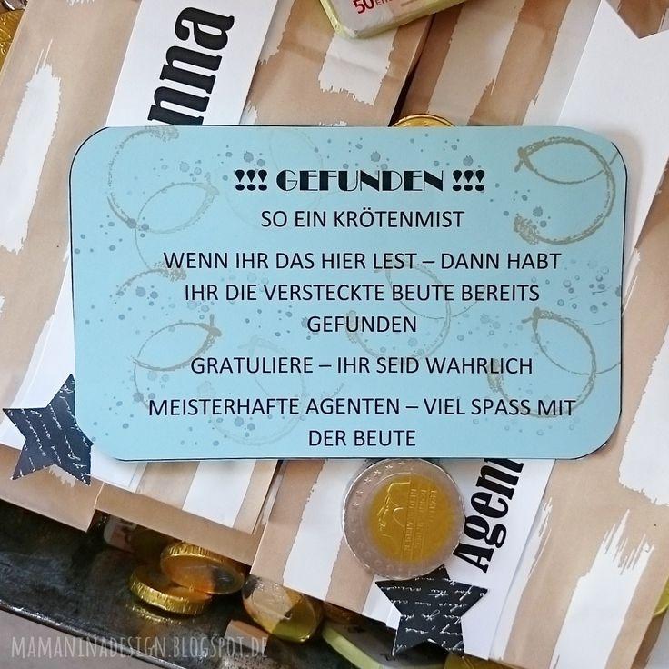 Kindergeburtstag Motto Agentenparty / die drei Ausrufezeichen !!!  Schatzsuche