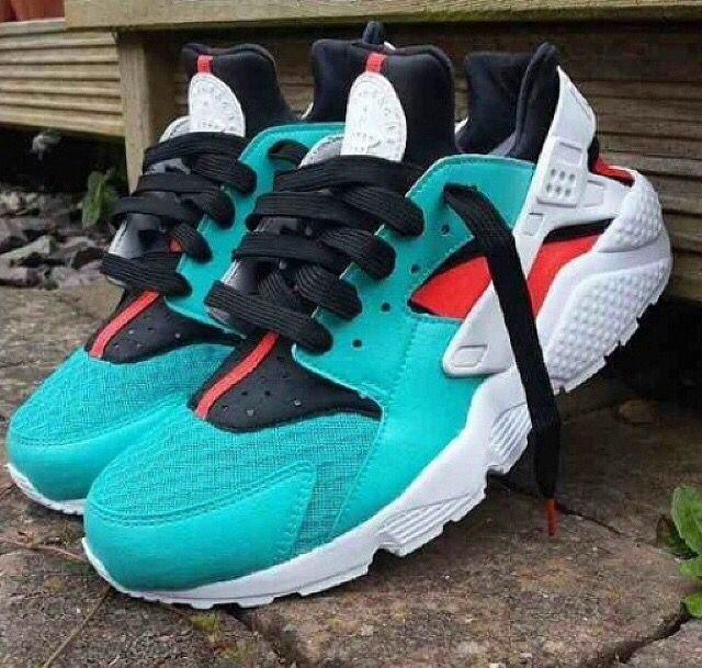 Nike Huarache Red And Black Footlocker
