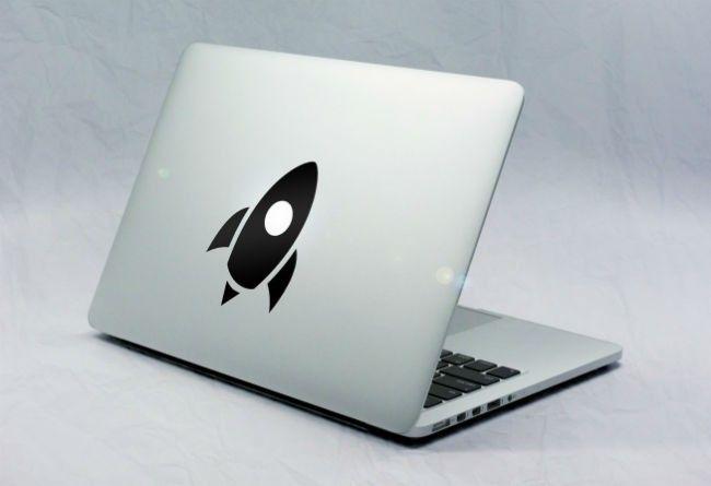 Sticker Macbook Fusée