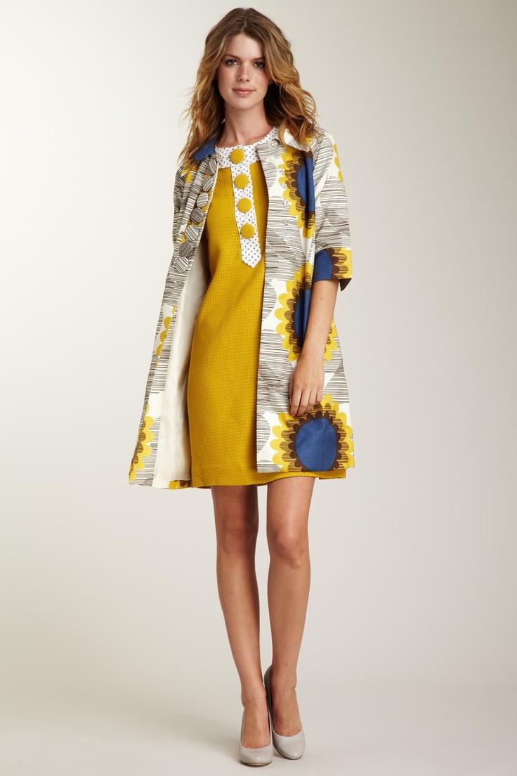 Orla Kiely sunflower coat