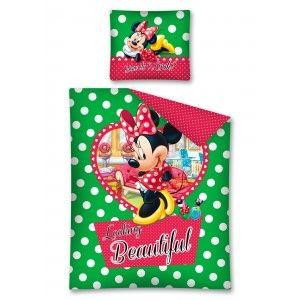 Minnie Mouse Looking Beautiful  - lenjerie de pat din bumbac pentru copii 140x200 cm