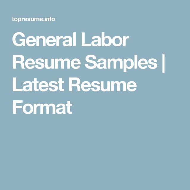 23 best Resume Tips images on Pinterest Resume tips, Resume - general labor resume