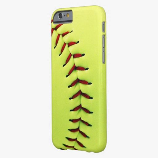 Cute iPhone 6 Case! This Yellow softball ball iPhone 6 case can be personalized or purchased as is to protect your iPhone 6 in Style!