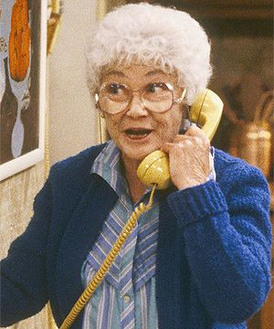 † Estelle Getty (Estelle Scher-Getty) (May 25, 1923 - July 22, 2008) American actress, o.a. from the comedyseries 'the Golden Girls'.