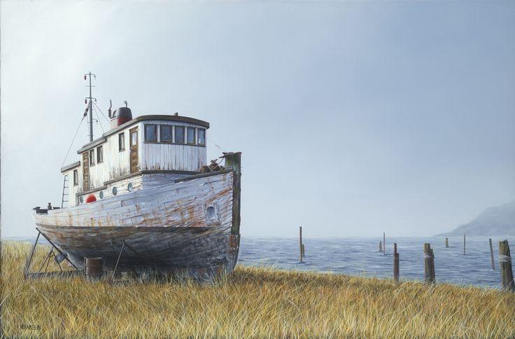 Hard Life, Acrylic Painting, Artist N. Hamelin