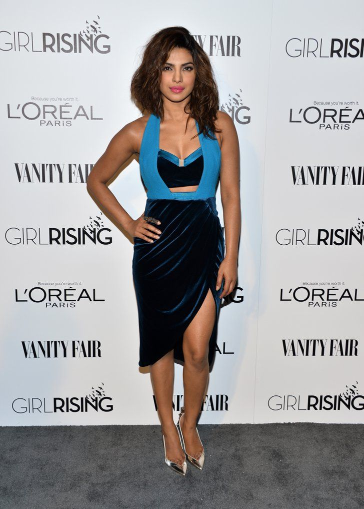 Pin for Later: 21 Reasons Priyanka Chopra Is the Style Star to Watch Right Now Embrace Bold Colors While an LBD will always be an easy go-to, sometimes a pop of color — like in Priyanka's Three Floor dress — is what really sets an outfit apart.