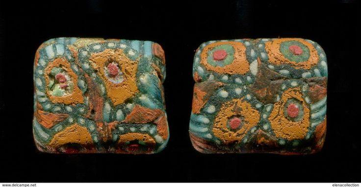 Superb Khazars Chasaren Antique mosaic glass paste bead #ancientbead #beads