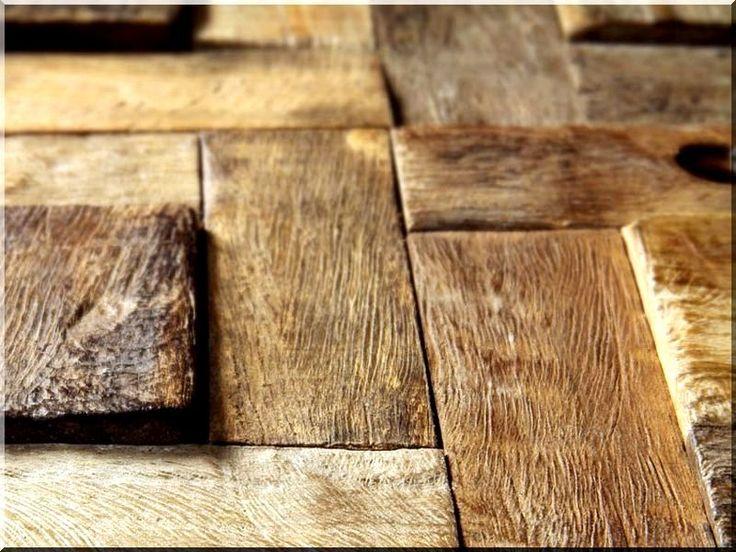 Fa falburkolat, fa mozaik dekoráció