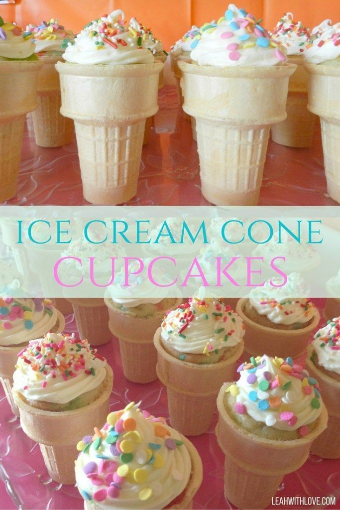 ice cream cone cupcakes...best way to kick off summer!