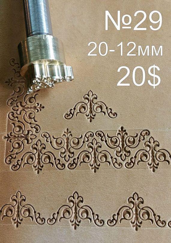 Herramientas para artesanías. Sello 29 por LeatherStampsTools