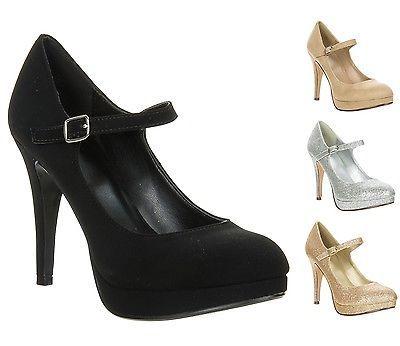 New Delicious Women's Classic High Heel Platform Mary Jane Pump TIE-H sz 5.5-10