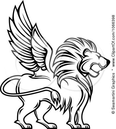 Winged lion tattoo - photo#41