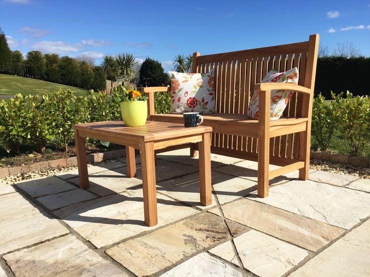 Single Richmond Teak Bench With Teak Coffee Table Set. Only £250 Http:/